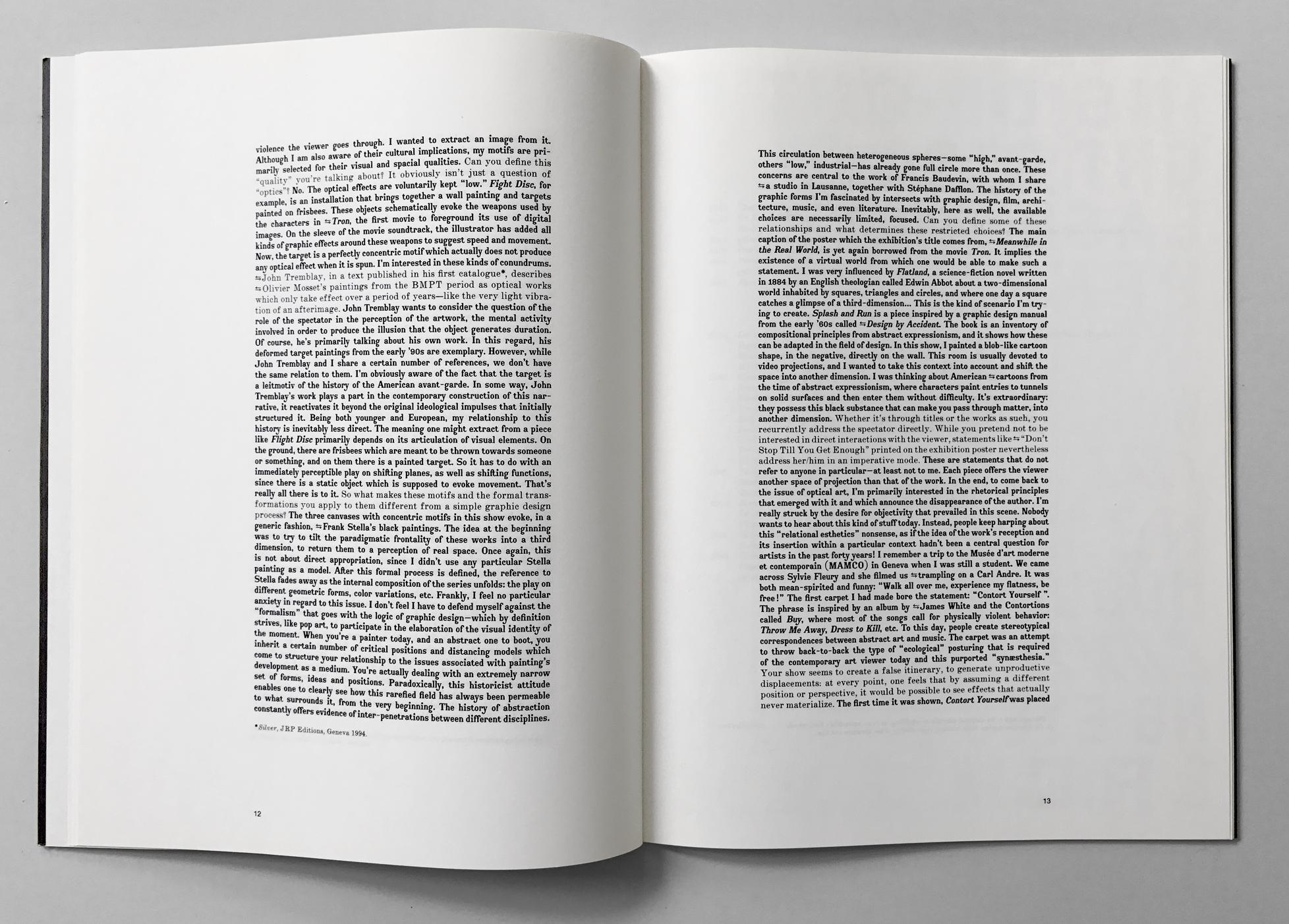 Première monographie de l'artiste Philippe Decrauzat. JRP éditions. En tant que Schönwehrs.