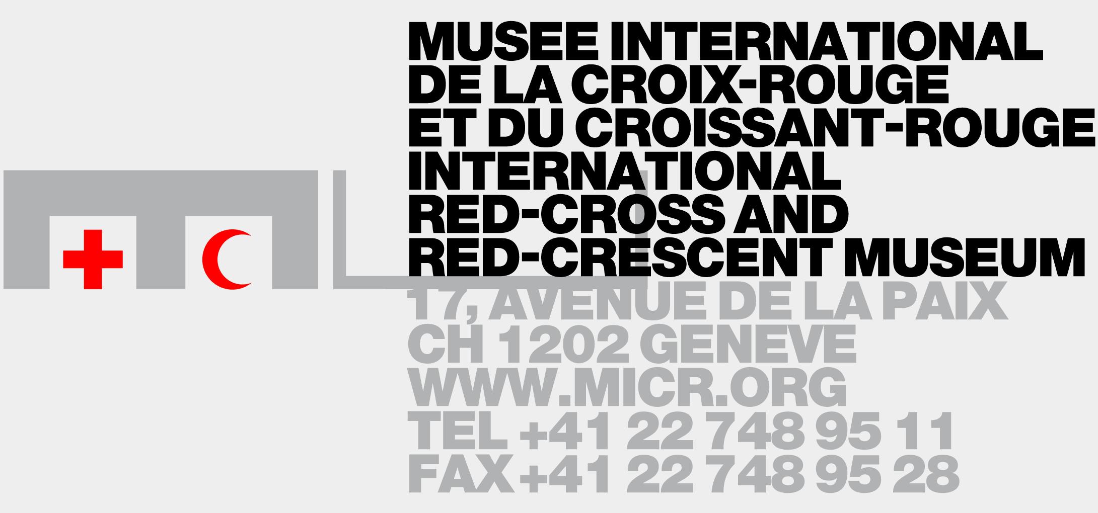 Logotype du Musée de la Croix-Rouge et du Croissant-Rouge, élément de l'identité visuelle développée dans le cadre de mes études à l'ECAL. En collaboration avec Gilles & Vincent Turin.