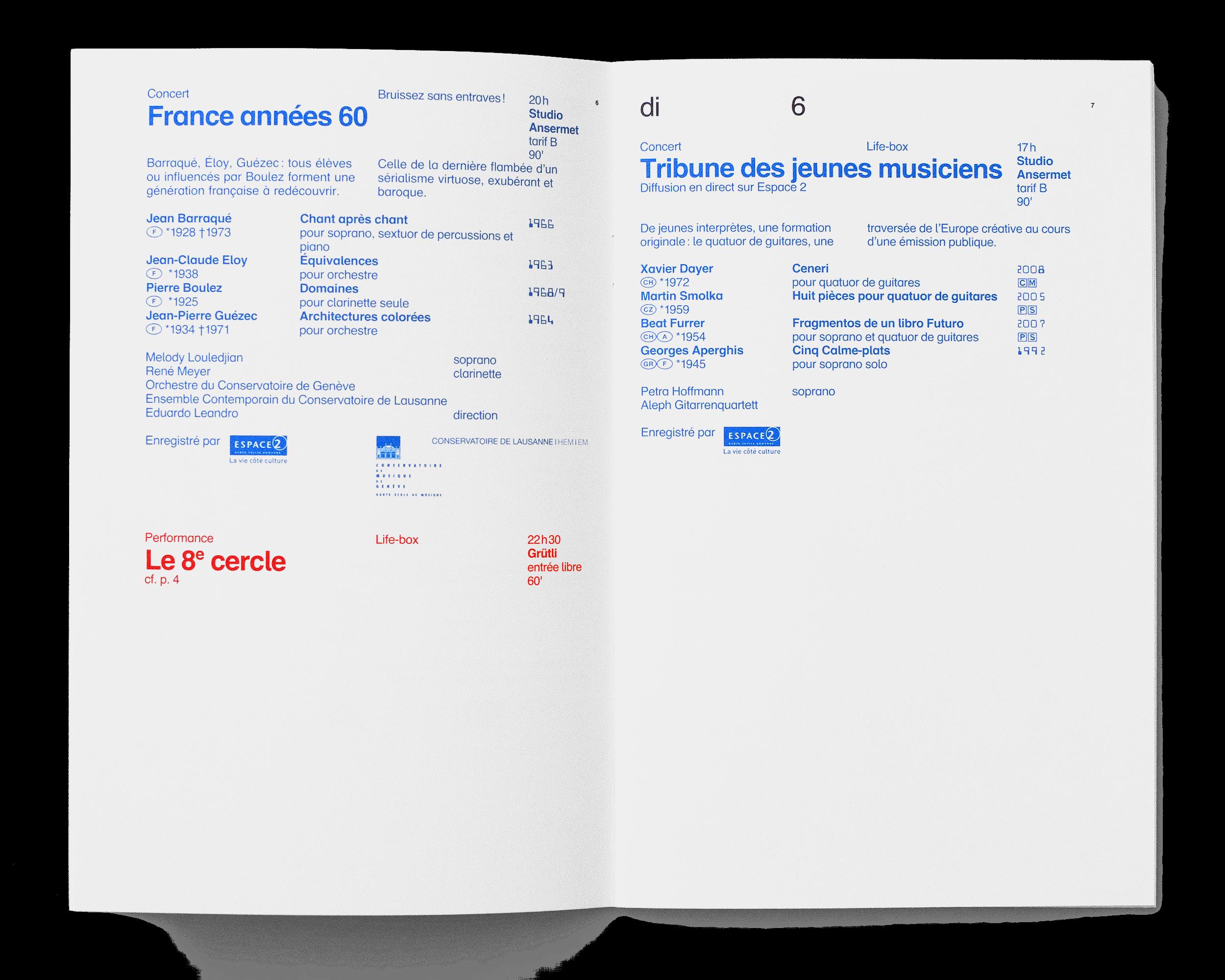 Programme du festival. En tant que Schönherwehrs.