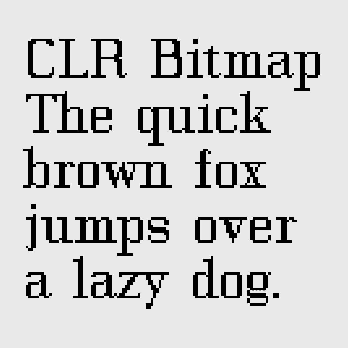 Famille de caractère dessinée pour l'identité visuelle du bureau d'architecture CLR, Genève. La version bitmap était utilisée sur le site internet, développé par Gael Hugo, alors qu'à l'époque il n'y avait pas de solution simple pour intégrer des polices de caractère.