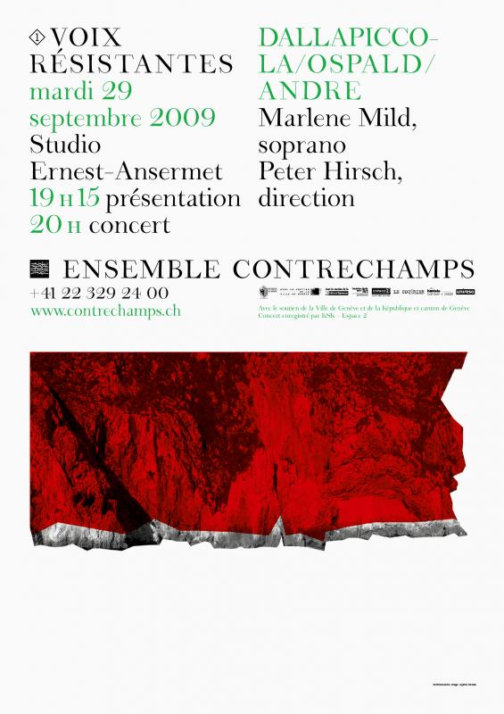 L'une des affiches de concert de la saison. Illustration: Agathe Nicolas. En tant que Schönherwehrs.