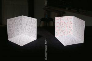 Dos, tranche et couverture du DVD documentant les réalisations 2006 de la classe Performance de la HEAD, Genève. En tant que Schönherwehrs.