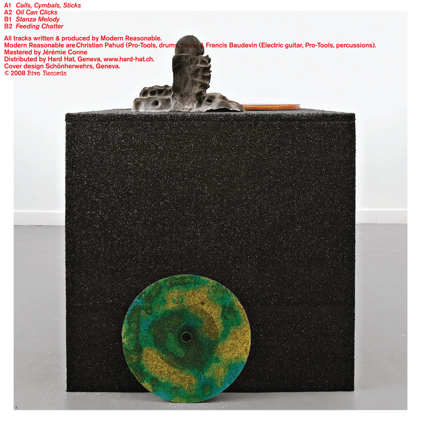 La pochette du EP est également le catalogue de l'exposition «Delta» de Pierre Vadi au Swiss Institute, New York. En tant que Schönherwehrs.