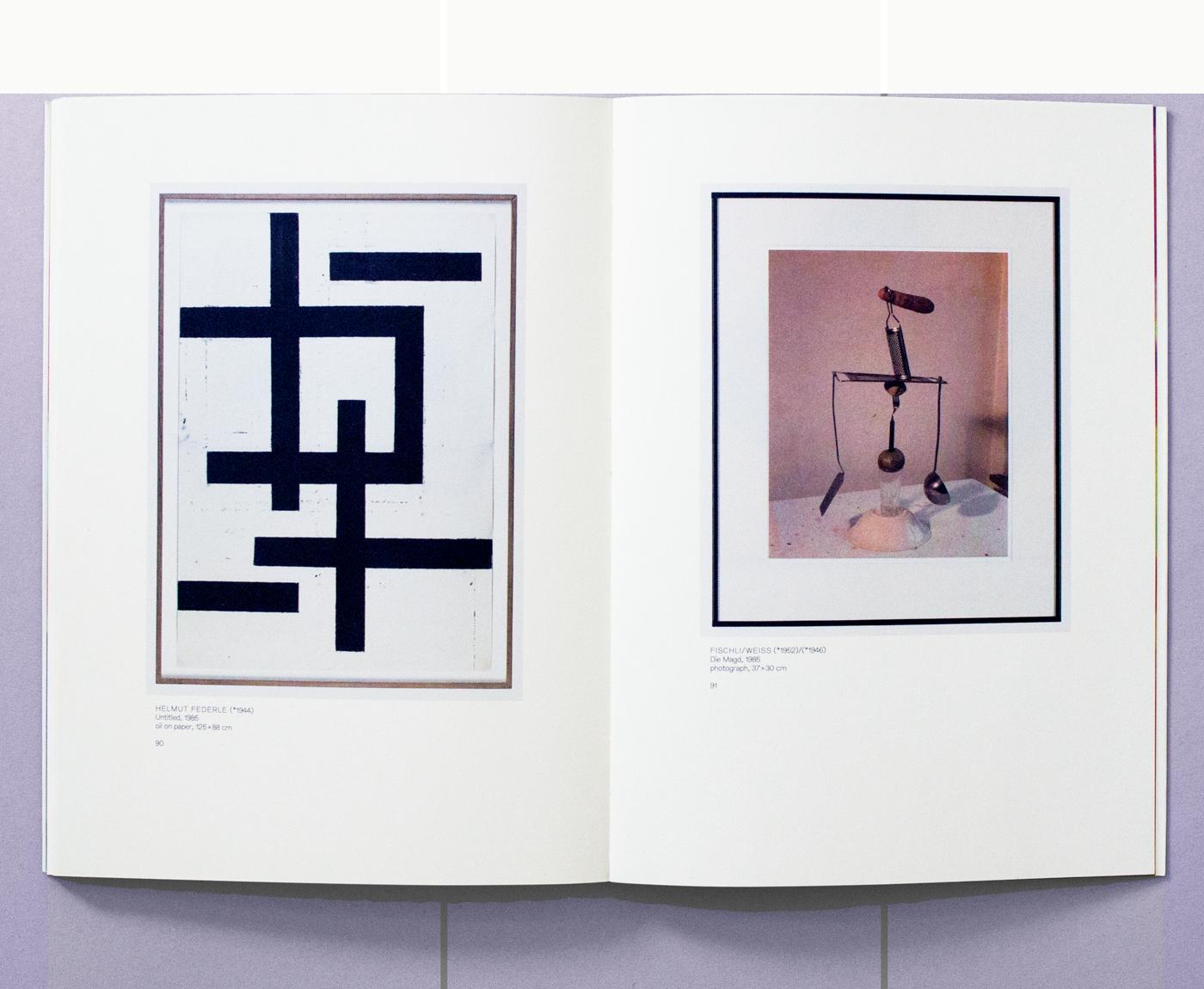 Catalogue accompagnant l'exposition «Naturellement abstrait, l'art contemporain suisse dans la collection Julius Baer» au Centre d'art contemporain, Genève. Photographies: Régis Golay. En tant que Schönherwehrs.