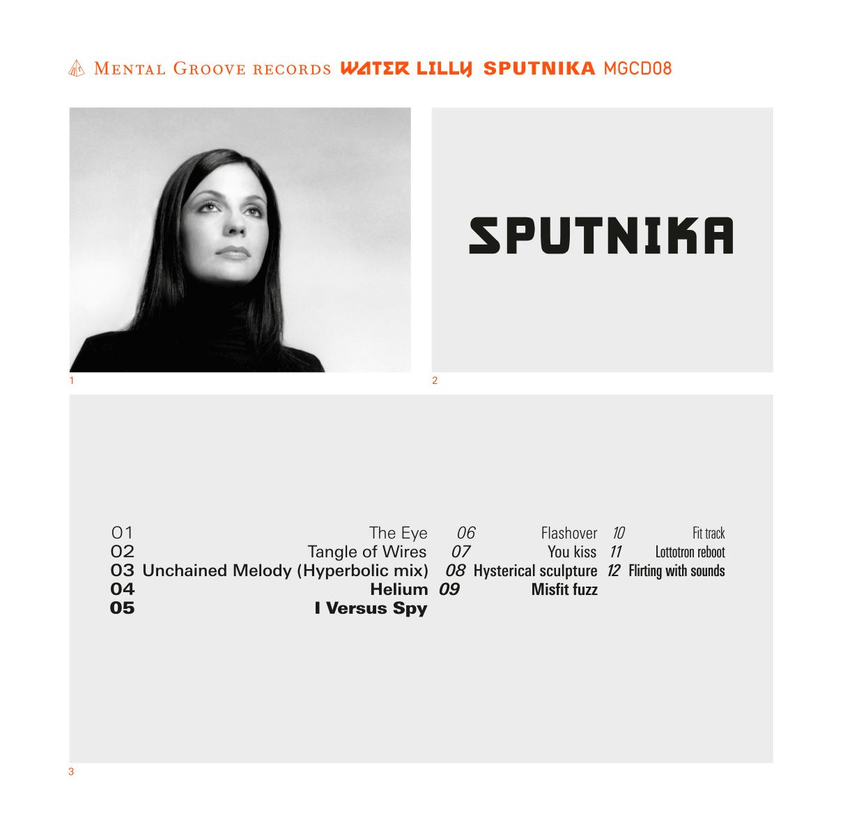 Pochette et livret de l'album Sputnika de Water Lilly (Mental Groove, Genève). Photos: Jorge Perez.