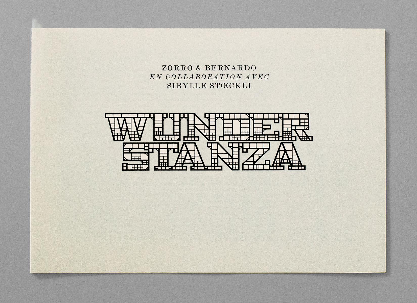 Dépliant/catalogue de l'exposition «Wunder Stanza», organisée au BAC, Genève. En tant que Schönherwehrs.