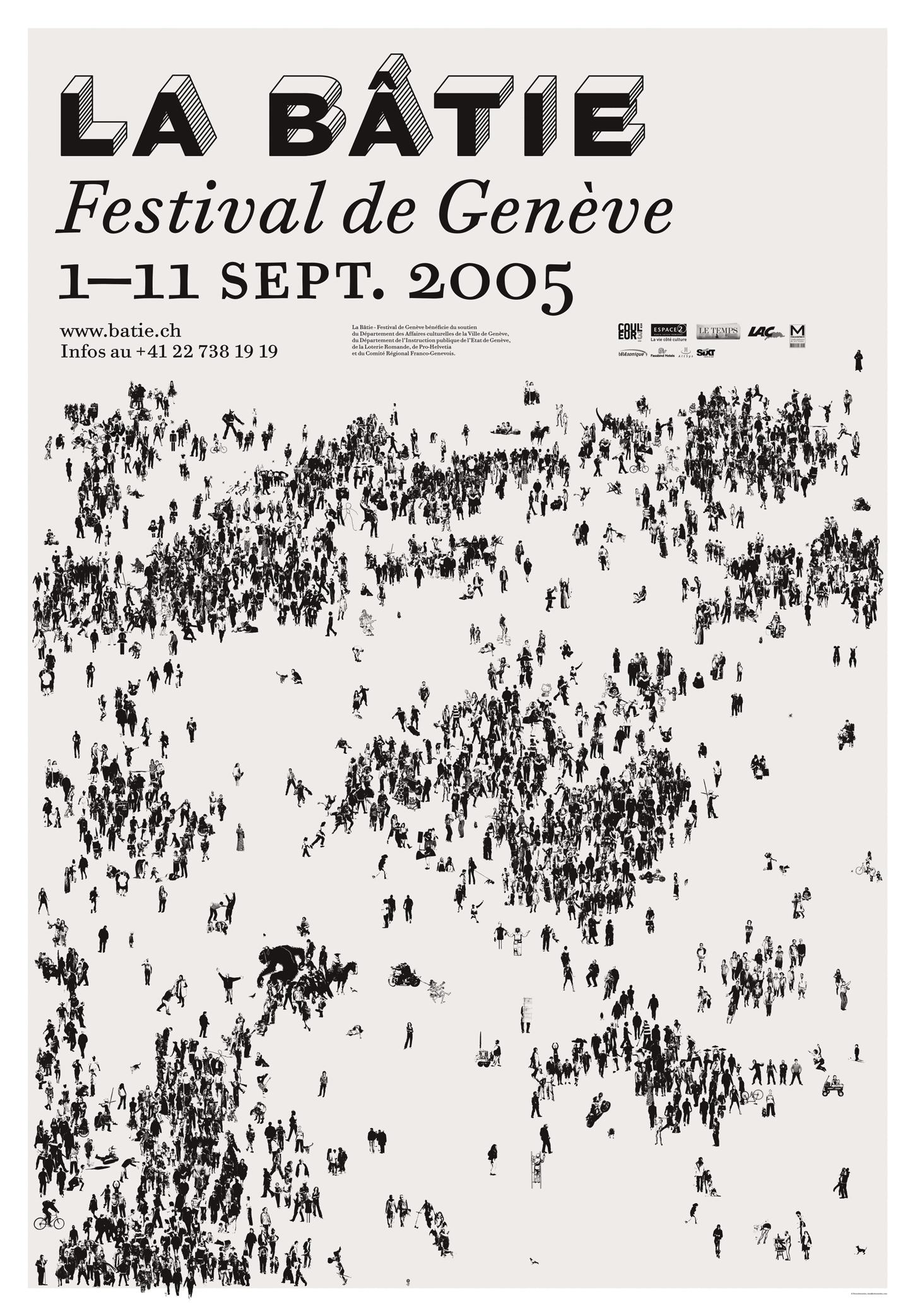 Affiche pour le Festival de la Bâtie, Genève. En tant que Schönwehrs.