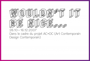 Carton d'invitation pour une exposition collective (recto).