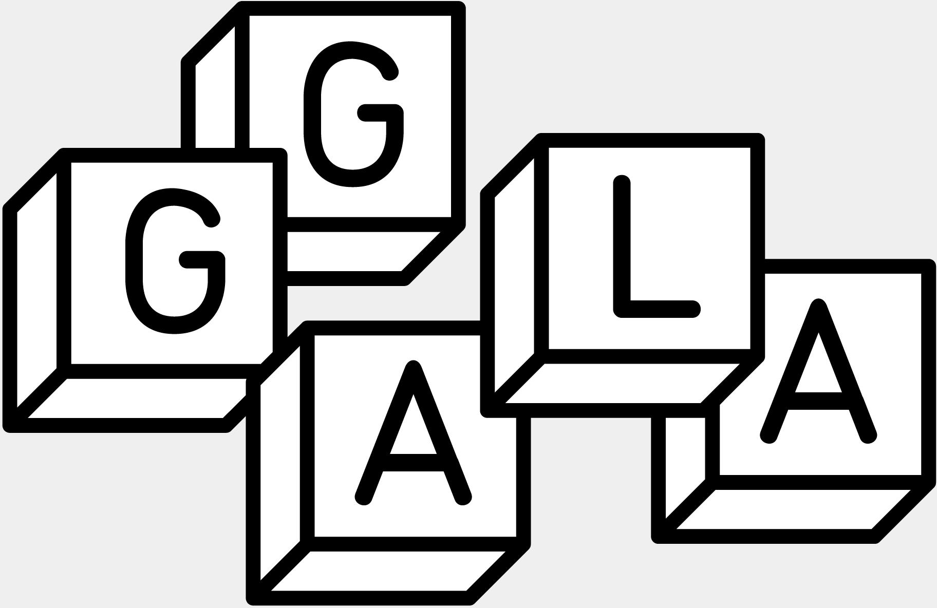 Logotype de l'association des galeries d'art lausannoises.