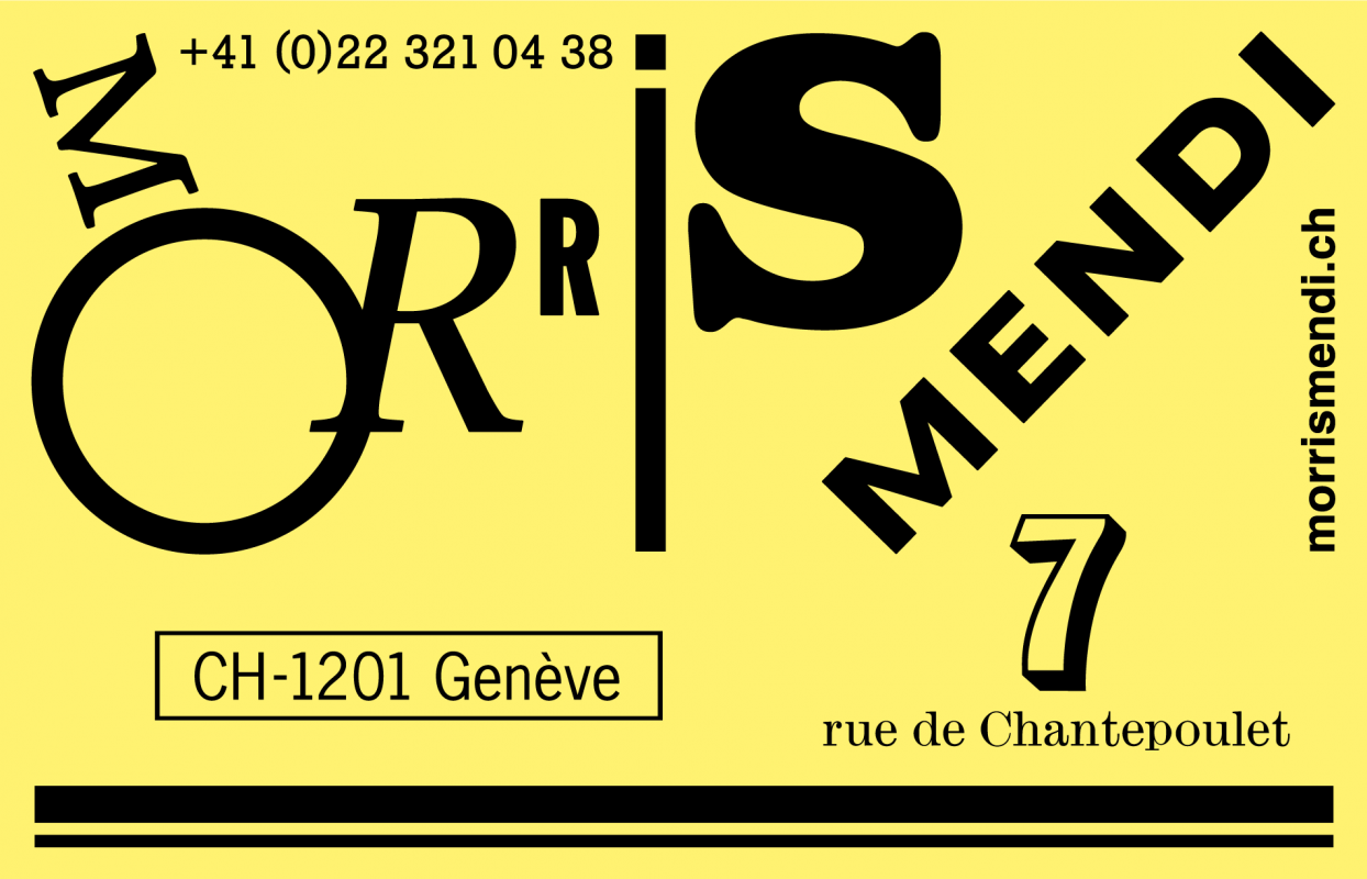 Identité visuelle de l'agence d'artistes Morris Mendi. En tant que Schönherwehrs.
