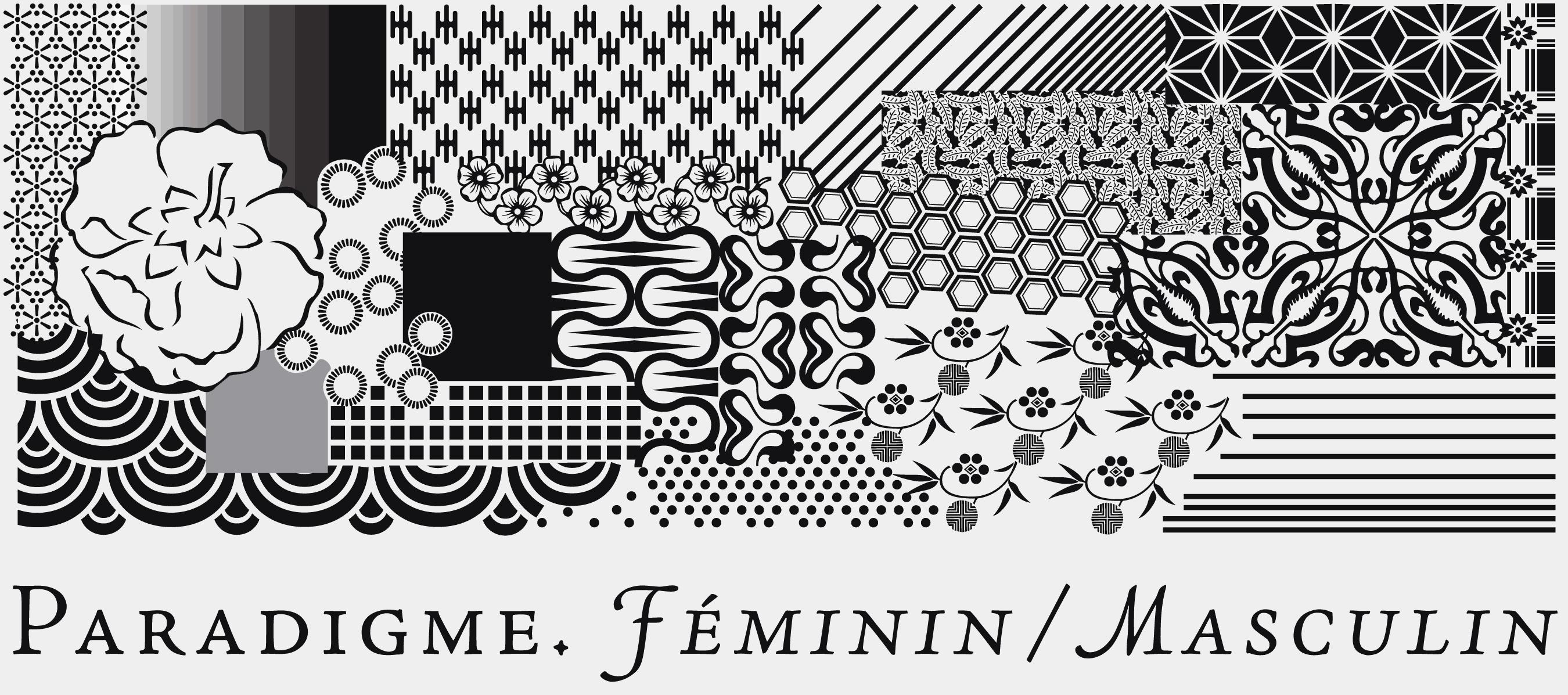 Identité visuelle de la boutique de mode Paradigme, Genève.