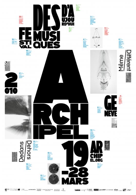 Composition basée sur une grille fractale. Le lettrage s'adapte aux cases. European Design Gold Award 2010.