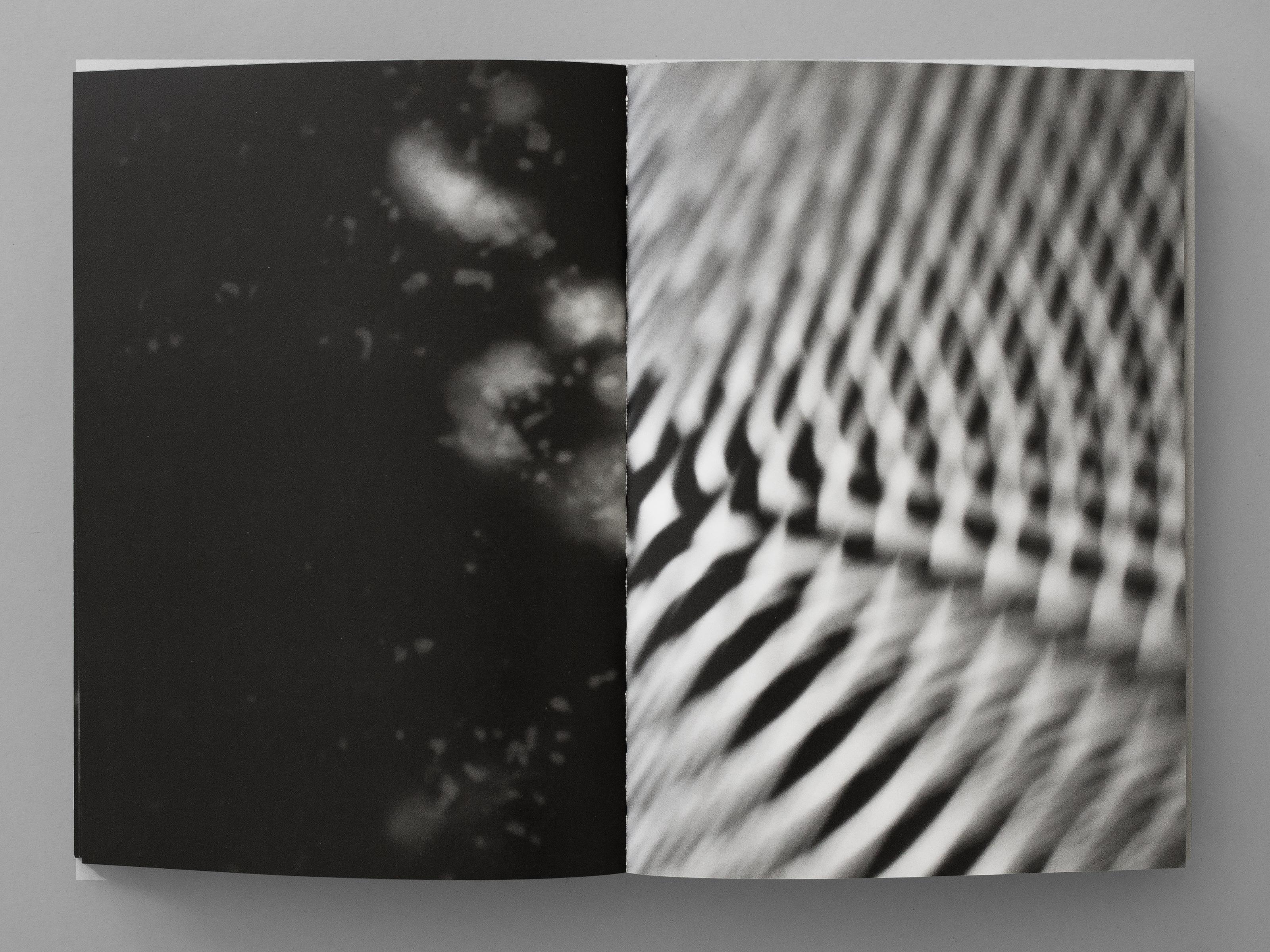 Livre d'artiste publié par le Centre d'édition contemporaine, Genève. 400 exemplaires uniques numérotés obtenus par répartition aléatoire des 18 cahiers de 16 pages avant reliure. Photographies: David Gagnebin-de Bons.