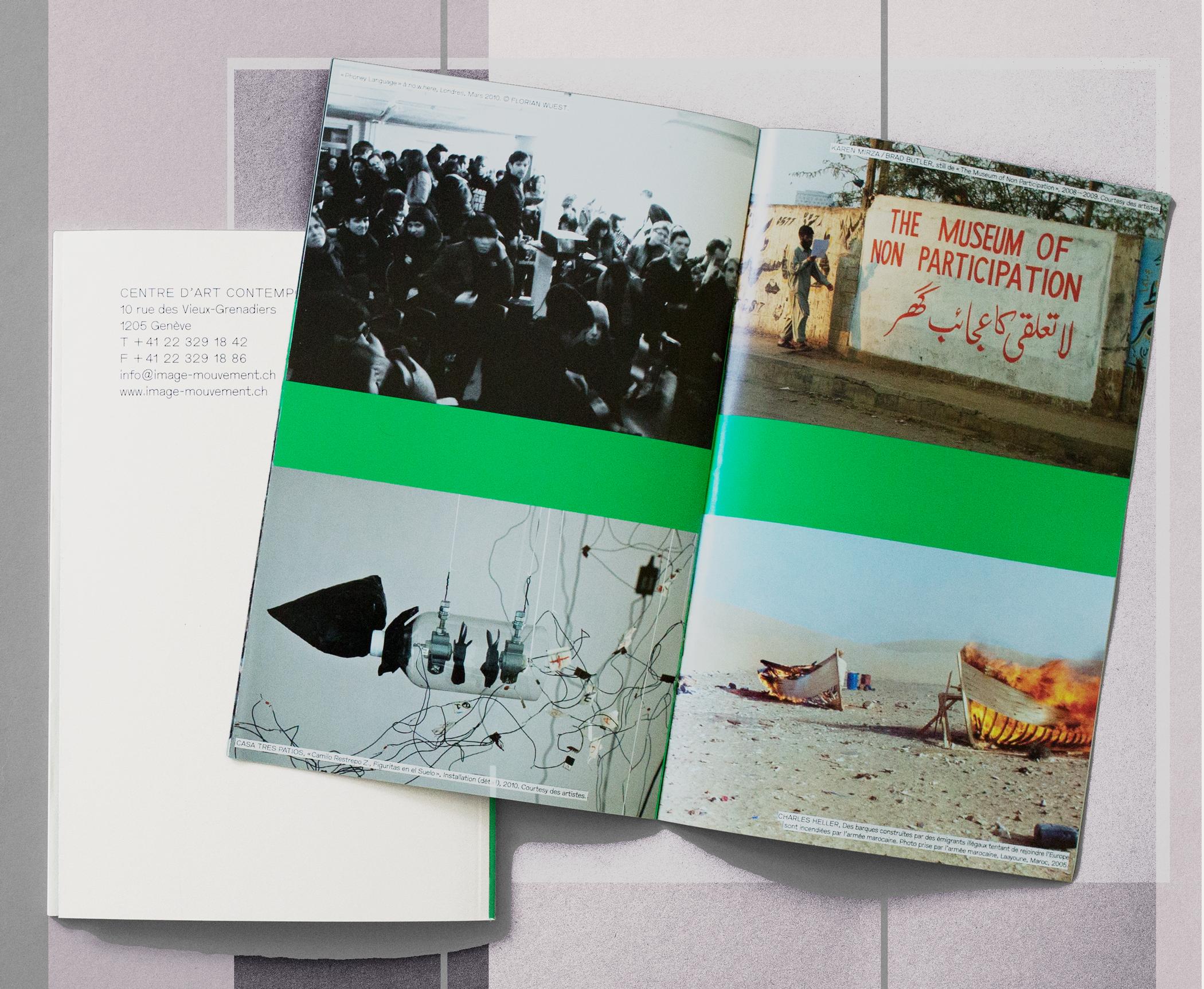 Programme du festival. Une brochure contenant des stills des films imprimée en quadrichromie était insérée dans le livret contenant les textes imprimé en deux couleurs. En tant que Schönherwehrs.
