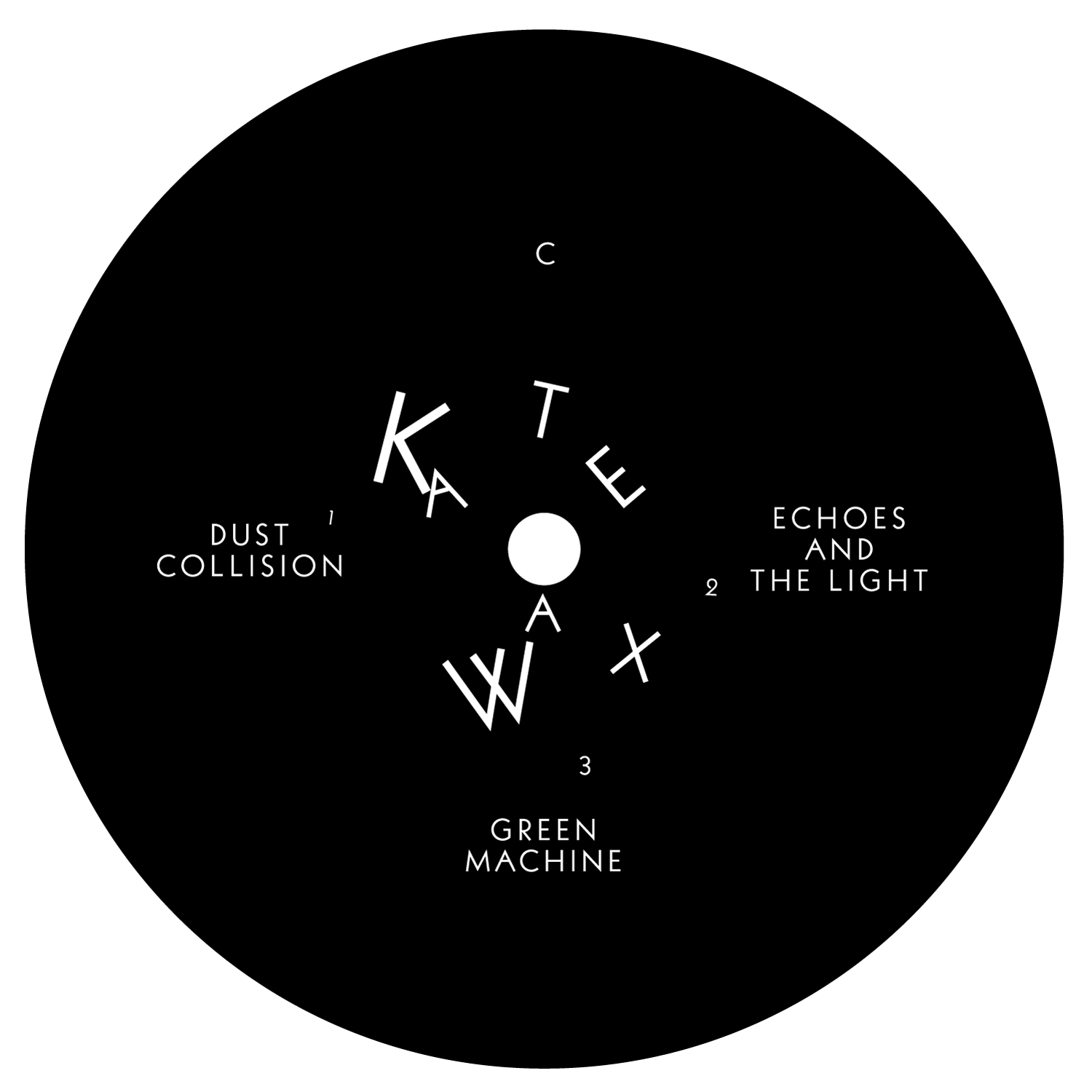 Label de l'album de Kate Wax sur Border Community, Londres.