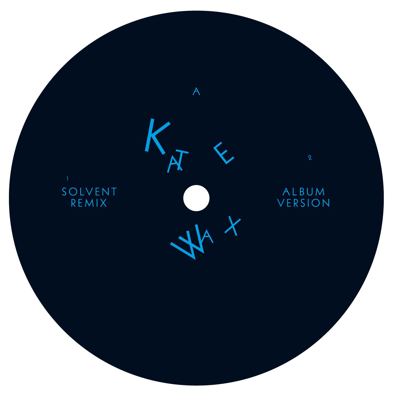 Label du single «Dust Collision» de Kate Wax pour le label Border Community, Londres.