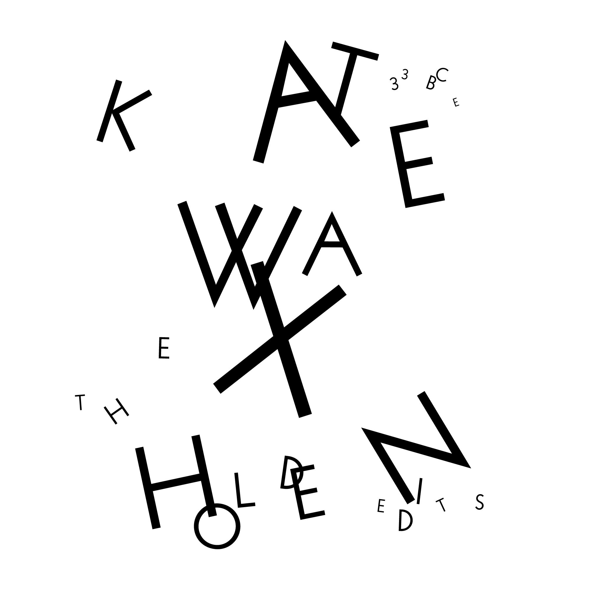 Première application du concept graphique développé pour l'album Dust Collision de Kate Wax. Label: Border Community.