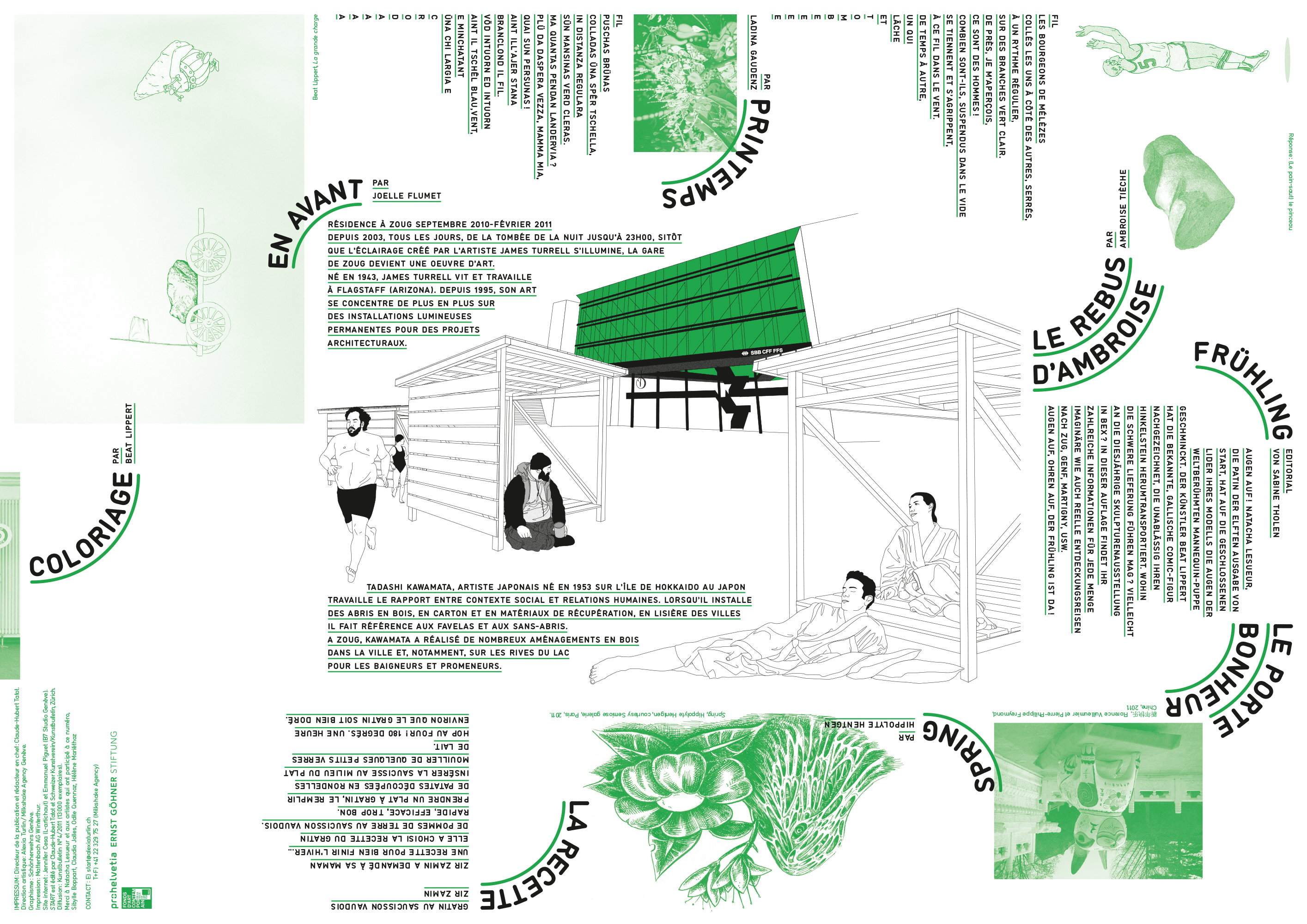 Magazine/dépliant d'art contemporain pour les enfants, édité par Claude-Hubert Tatot et Alexia Turlin, inséré dans le Kunstbulletin (verso)