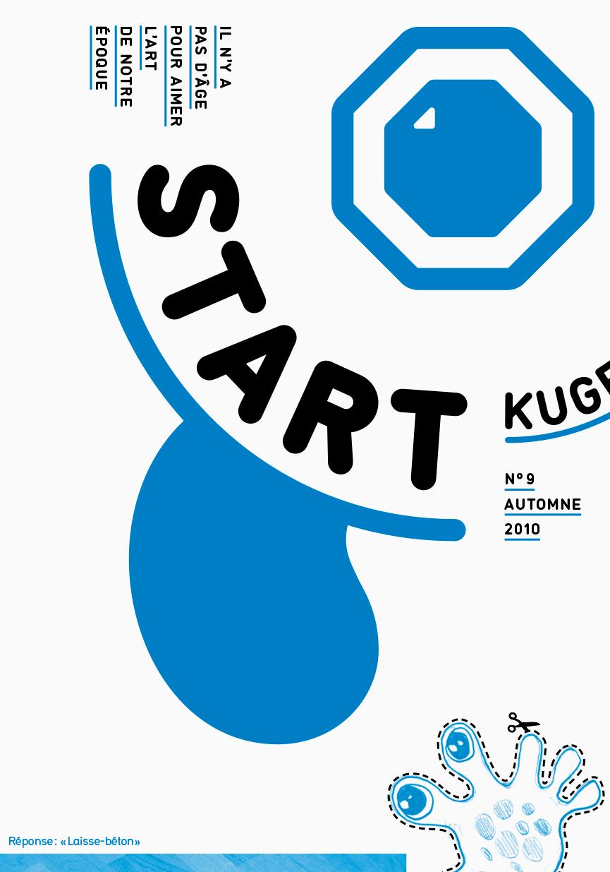 Magazine/dépliant d'art contemporain pour les enfants, édité par Claude-Hubert Tatot et Alexia Turlin, inséré dans le Kunstbulletin (couverture)