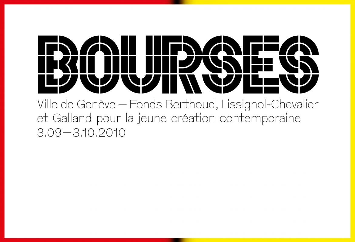 Cartons d'invitation du Centre d'art contemporain Genève. En tant que Schönherwehrs.