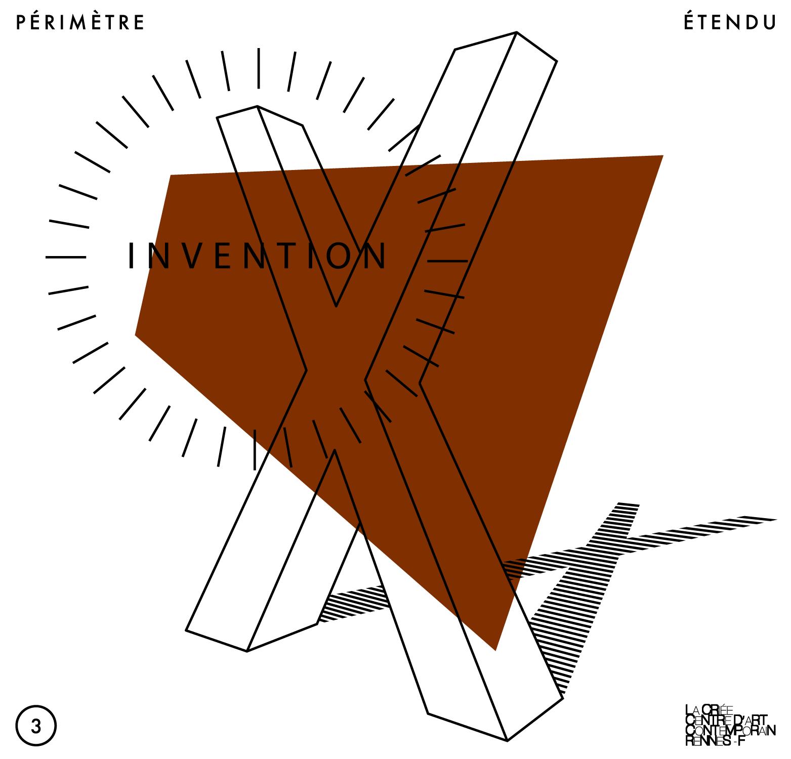 Carton d'invitation (virtuel) pour un évènement du cycle «Périmètre étendu» organisé par les étudiant·e·s du Master «Métiers et arts de l'exposition» de l'Université de Rennes dans le cadre du cours donné par Delphine Coindet.