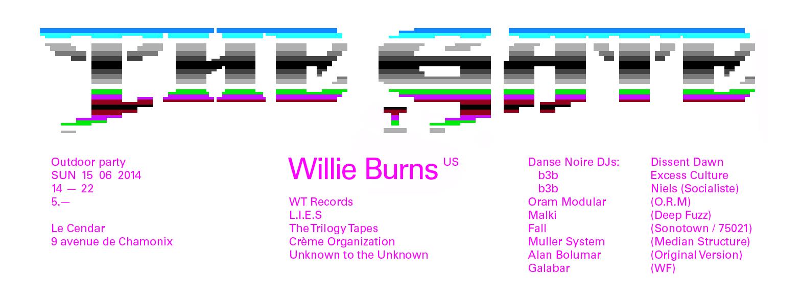 Flyer (digital) pour une soirée. Lettrage inspiré des jeux vidéos 8-bit.
