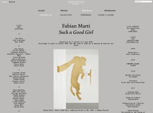 Site internet du Centre d'édition contemporaine, Genève