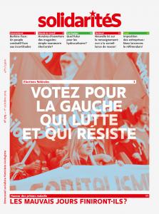 Couverture du numéro 275 du bimensuel solidaritéS