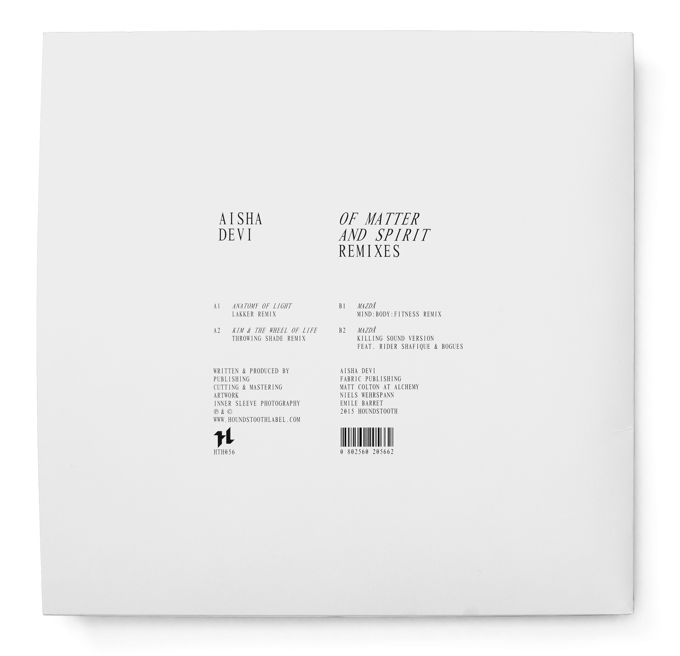 Aisha Devi, Of Matter and Spirit remixes, dos