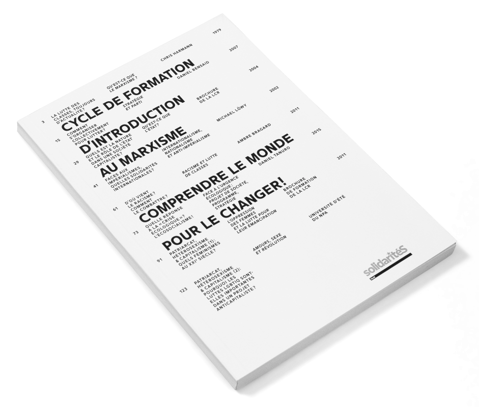 Couverture d'une brochure de formation au marxisme éditée par solidaritéS