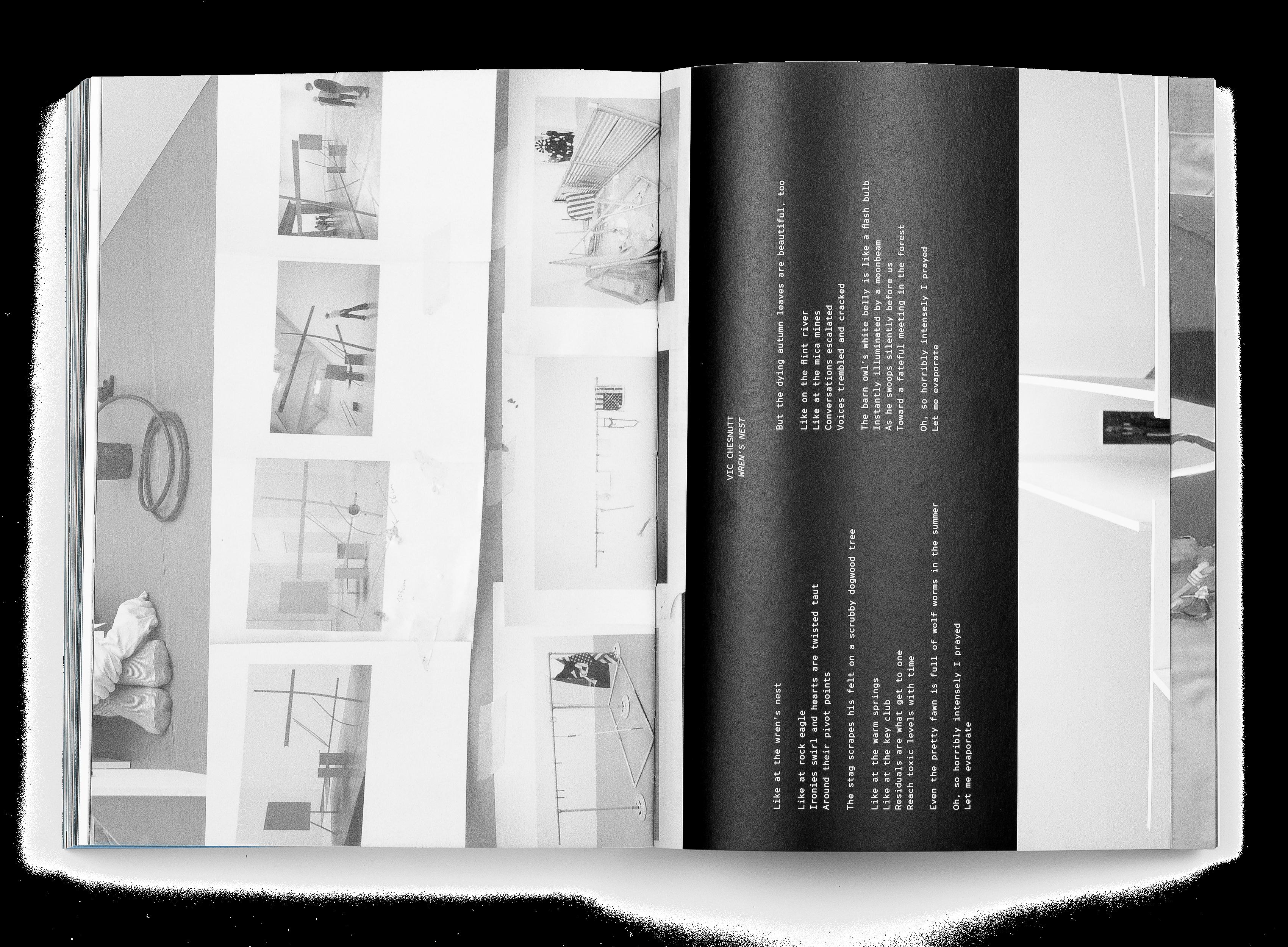 Double page du livre de Mathis Gasser, In the Museum 1 2 3, Regulators 1 2 n