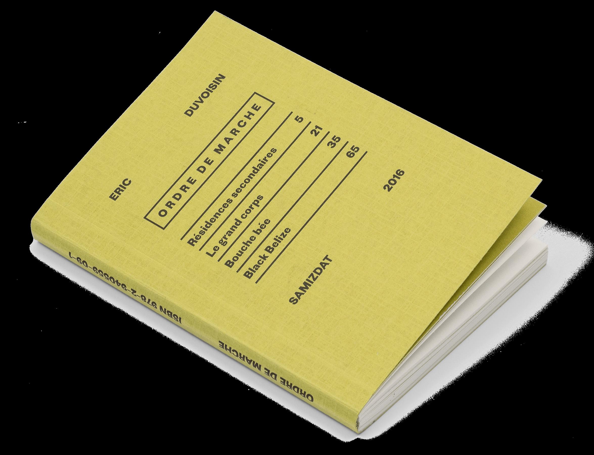 Couverture du livre «Ordre de marche» d'Eric Duvoisin, Samizdat