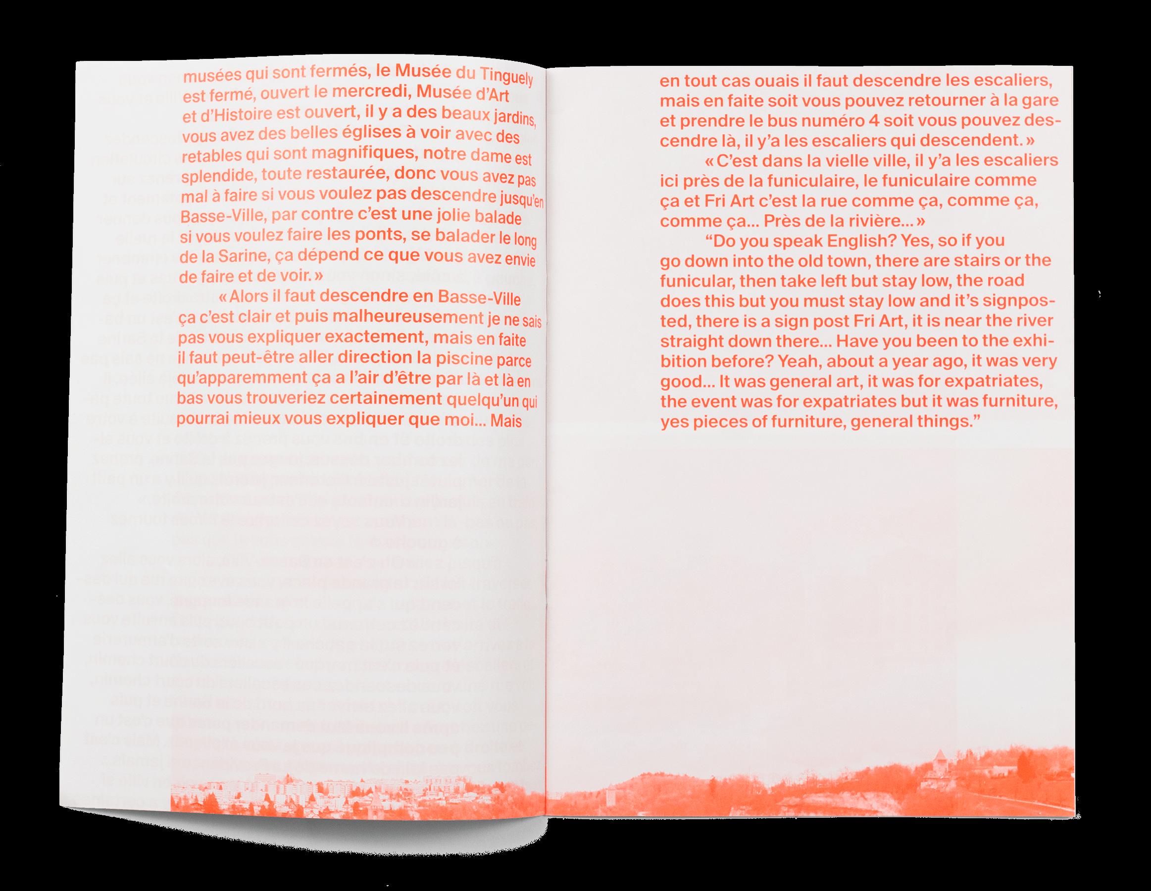 Coffret Fondation Nestlé pour l'art: double page de la brochure de Maya Fielding (HSLU)