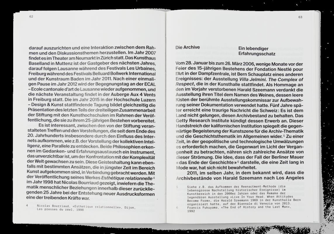 Coffret Fondation Nestlé pour l'art: Double page du livre d'introduction