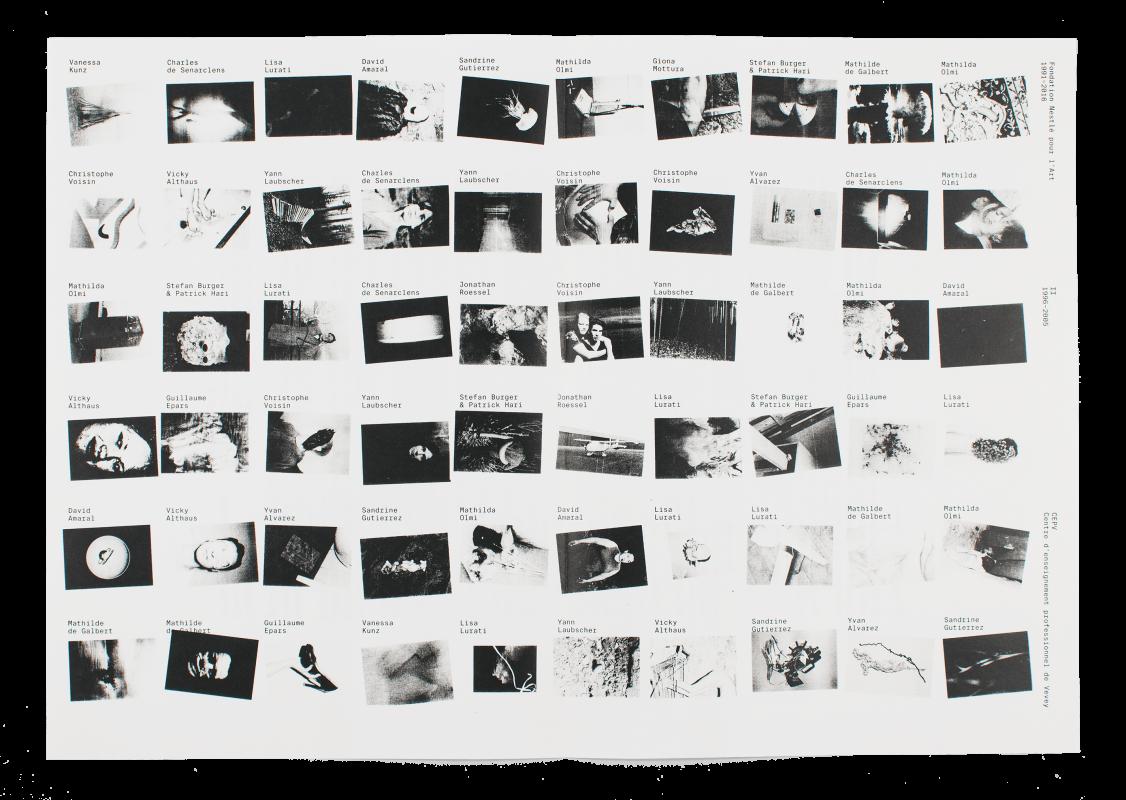 Coffret Fondation Nestlé pour l'art: Poster index de la série du CEPV (Vevey).