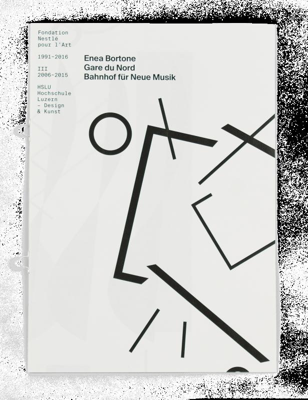 Coffret Fondation Nestlé pour l'art: Couverture de la brochure de Enea Bortone, étudiant de la HSLU (Lucerne).