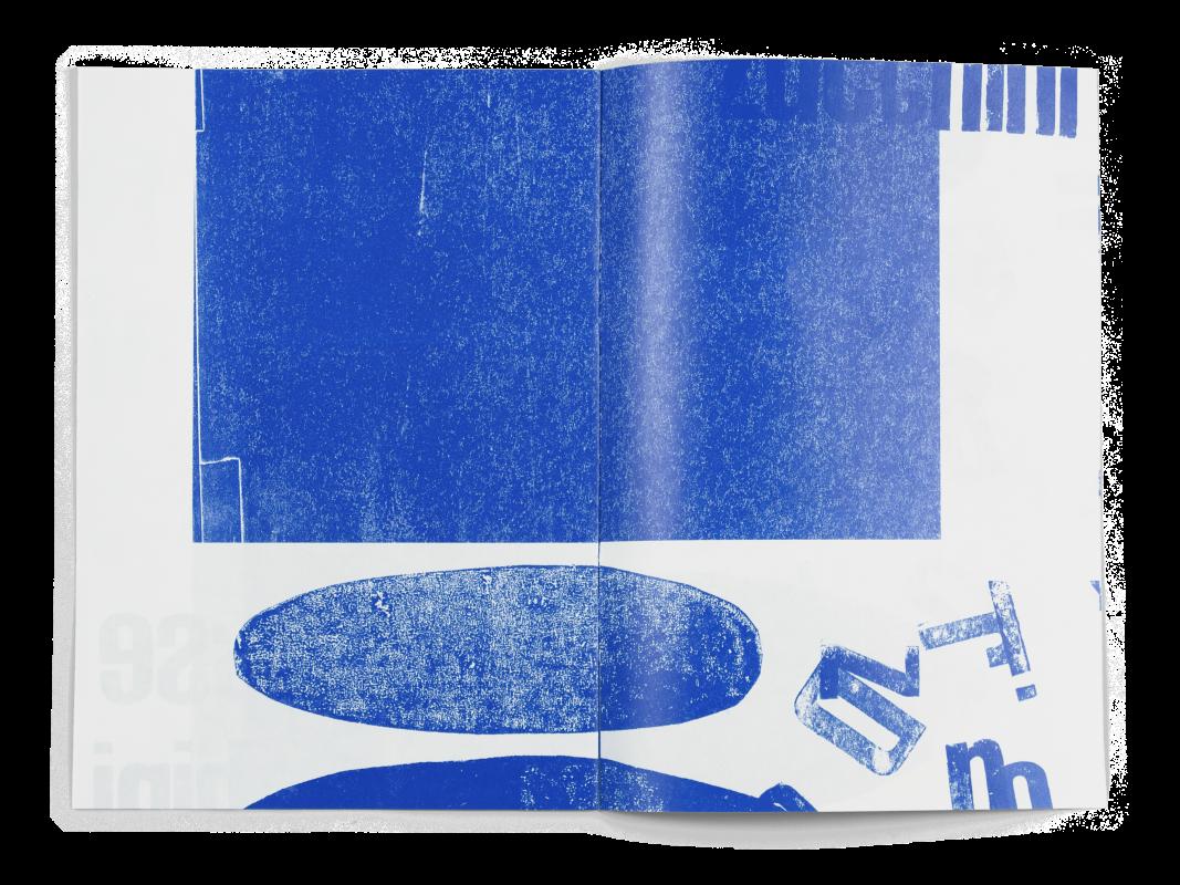Coffret Fondation Nestlé pour l'art: Double page de la brochure de Marisa Zurcher, étudiante de la HSLU (Lucerne).