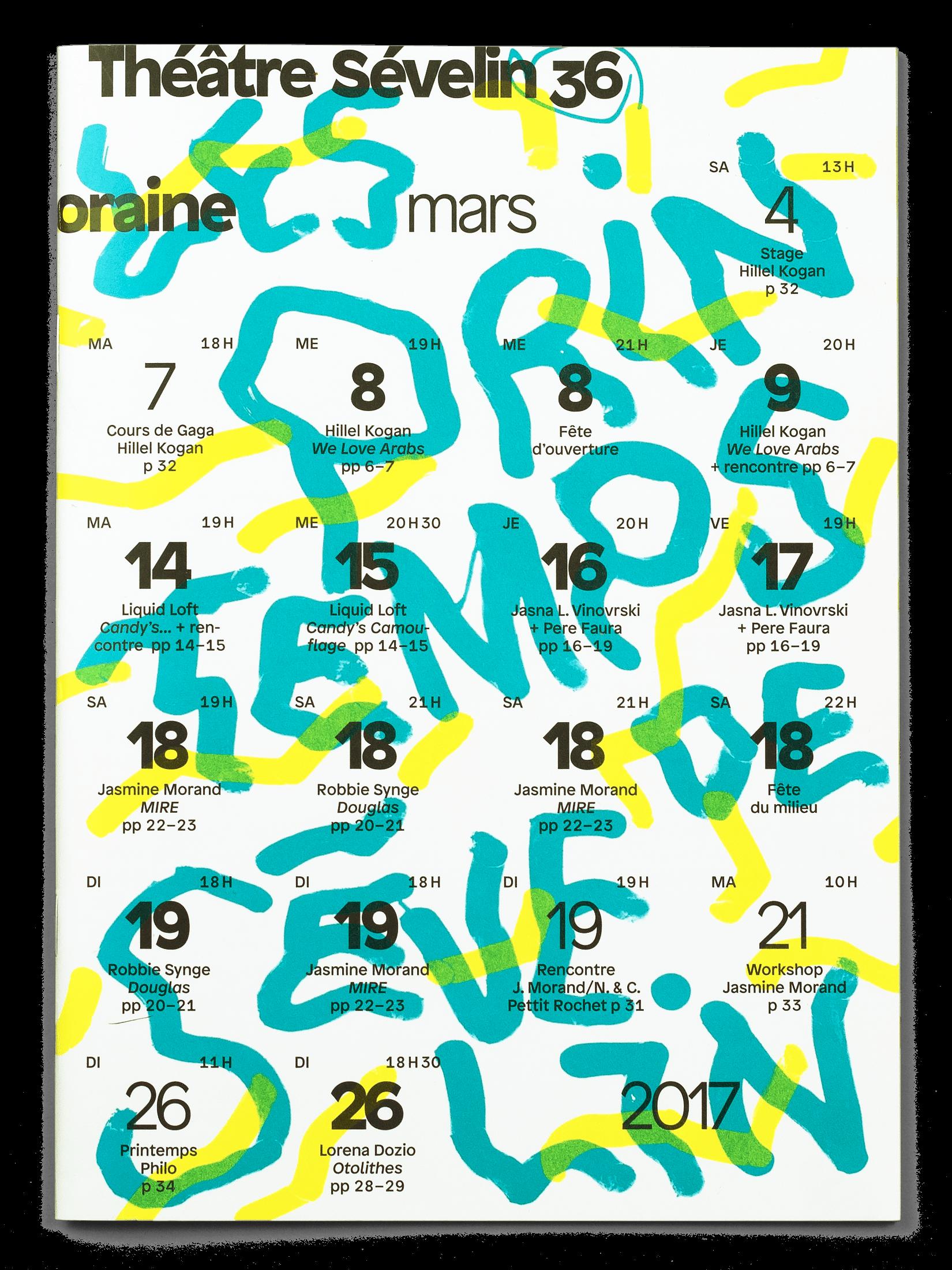 Couverture du programme des Printemps de Sévelin 36 2017