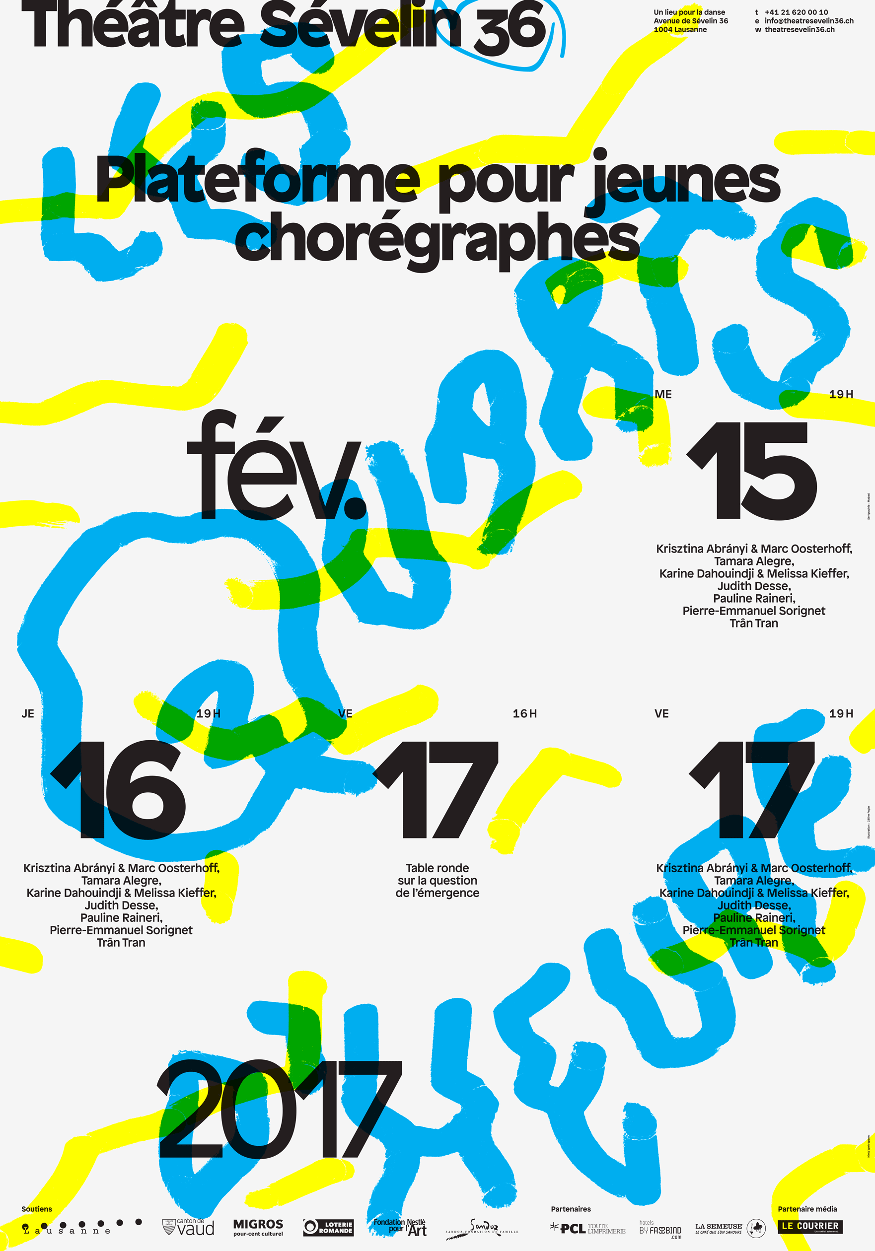 Affiche pour les Quarts d'Heure 2017