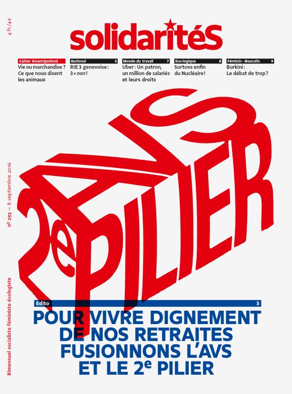 Couverture du numéro 293 du bimensuel solidaritéS