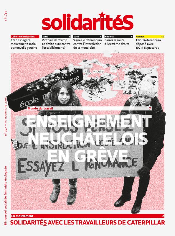 Couverture du numéro 297 du bimensuel solidaritéS