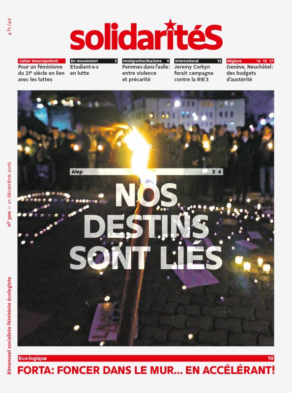 Couverture du numéro 300 du bimensuel solidaritéS