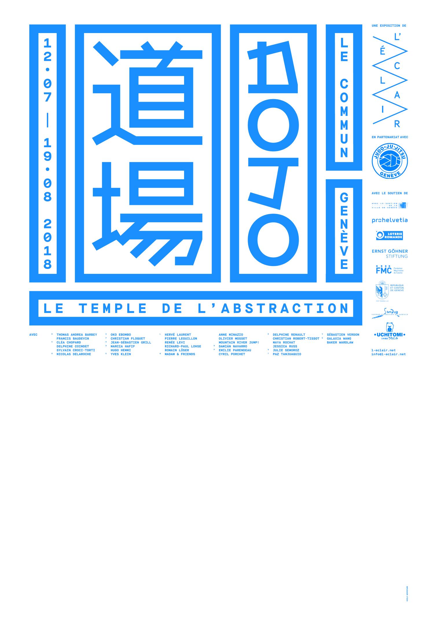 Affiche de l'exposition DOJO, bleu
