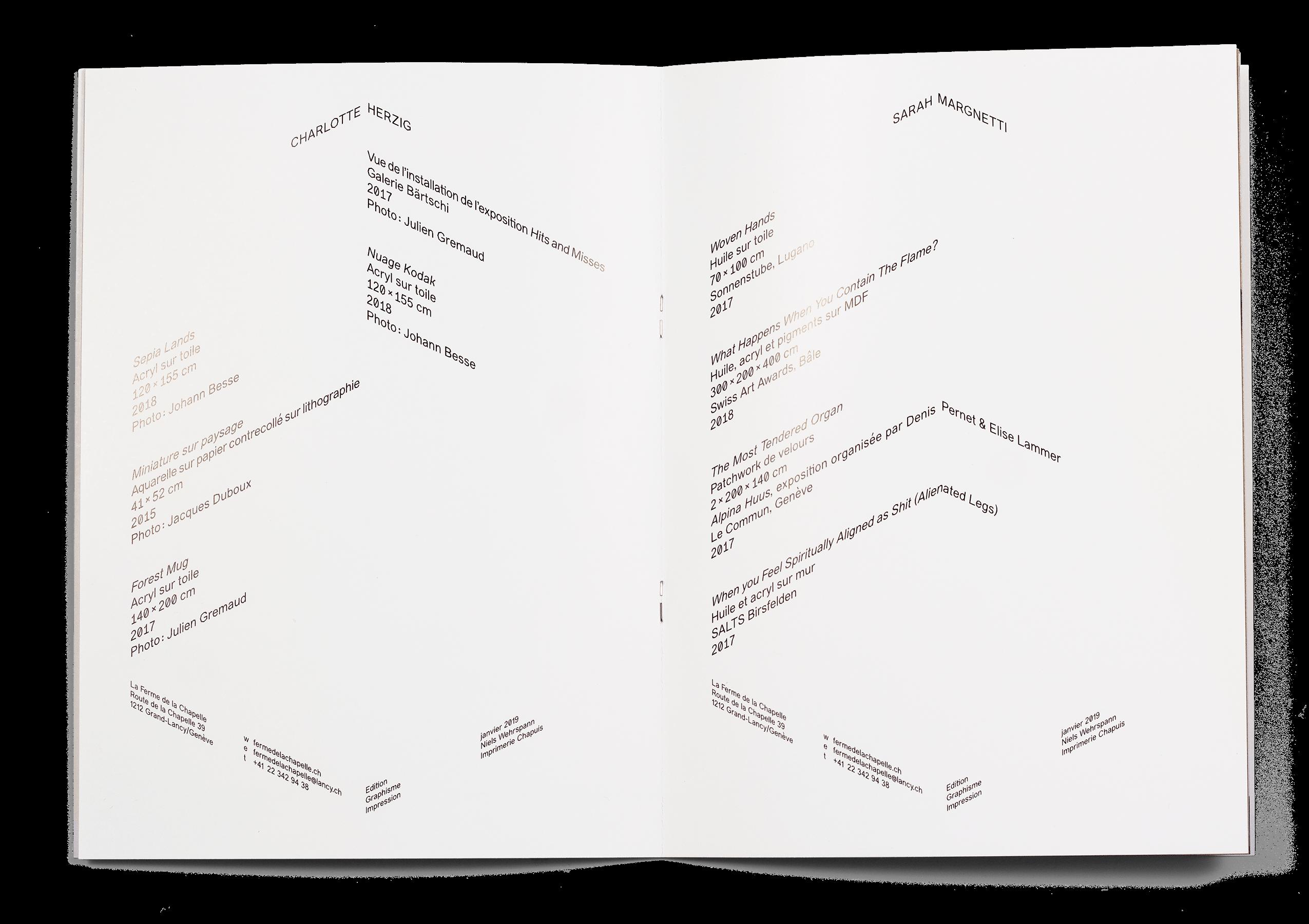 Double page de la brochure de l'exposition Tropes