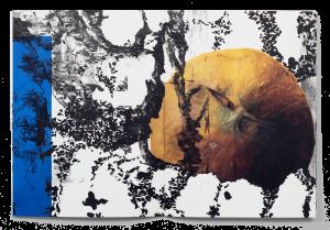 Collage de dessins de Leyla Goormaghtigh, Stéphanie Pfister et Florian Javet dans la brochure de leur exposition à la Ferme de la Chapelle