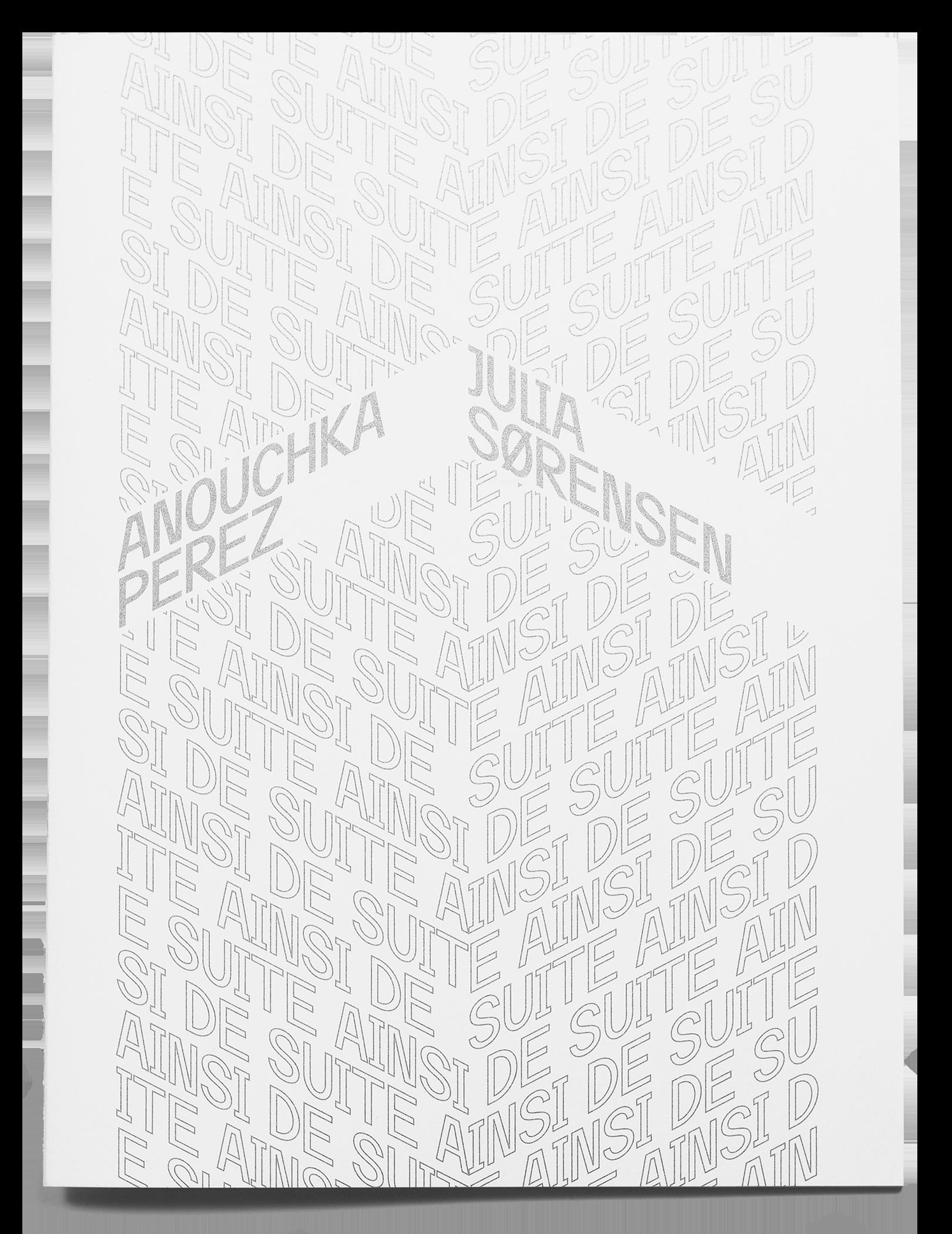 Couverture typographique de la brochure d'exposition de Anouchka Perez et Julia Sorensen