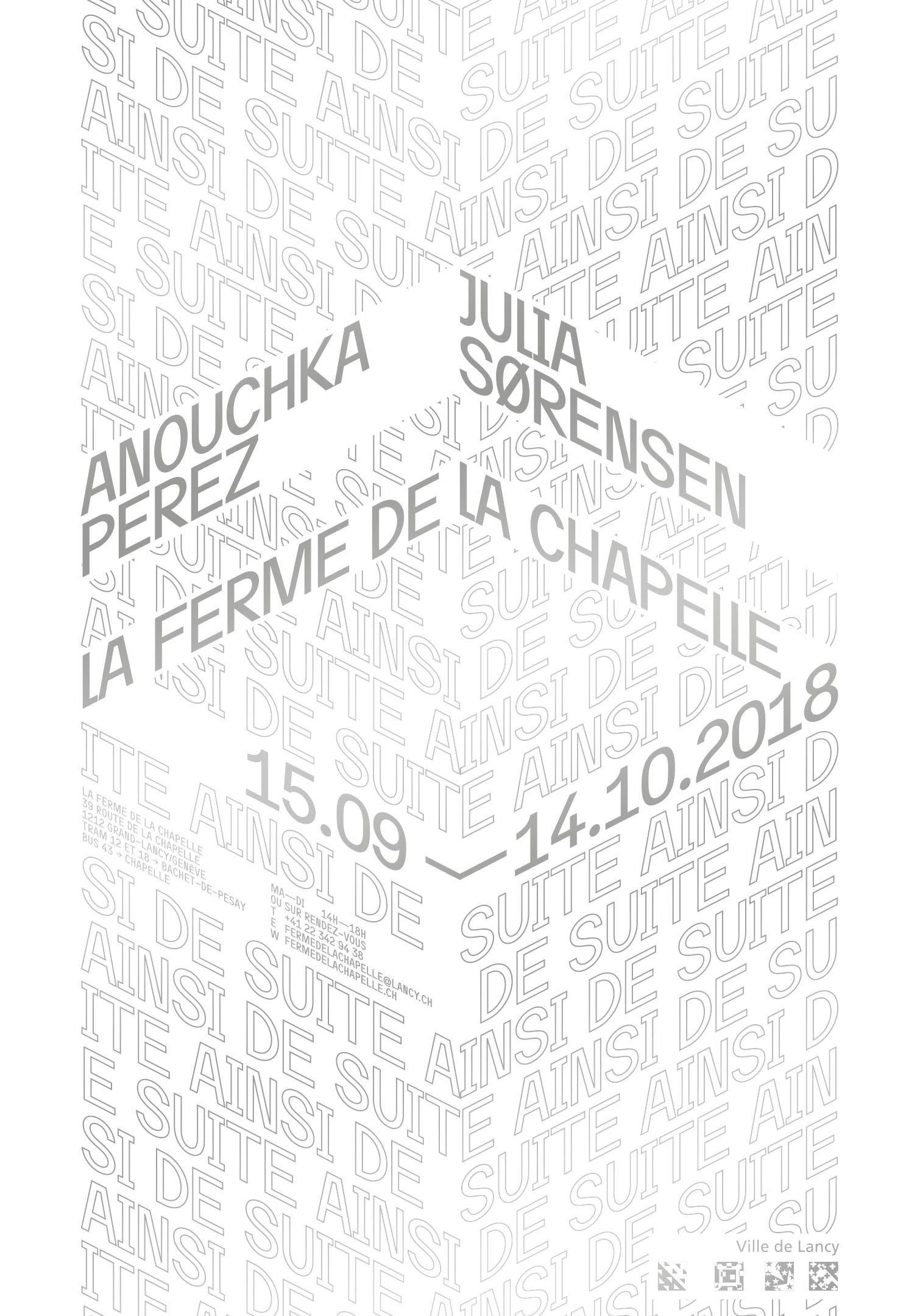 Affiche typographique pour une exposition de Anouchka Perez et Julia Sorensen