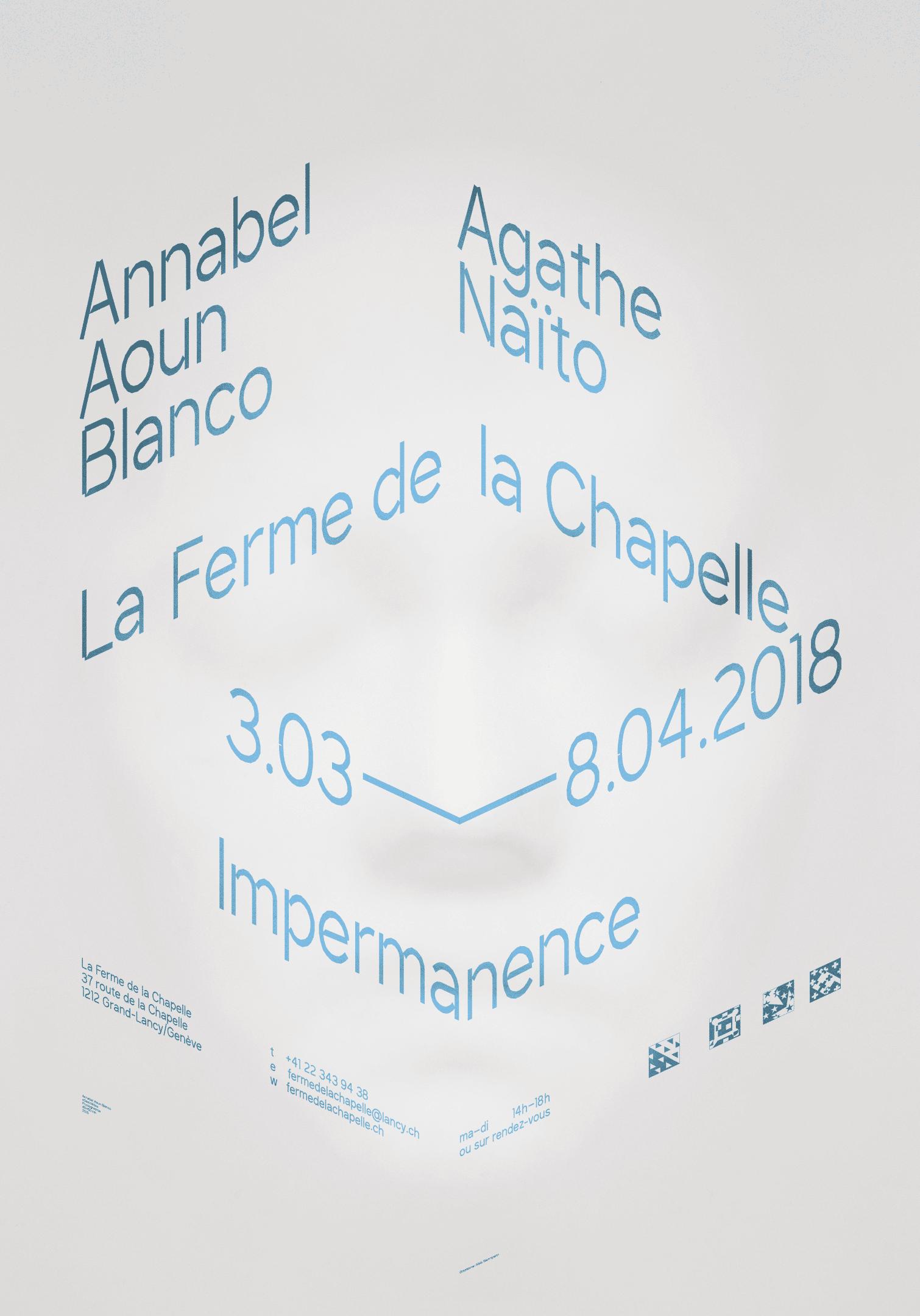Annabel Aoun Blanco, Agathe Naïto, affiche