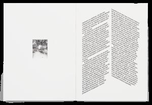 Dessin de Michael Rampa dans la brochure de l'exposition Paysage Prétexte à la Ferme de la Chapelle