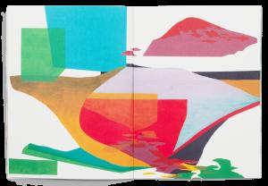Peinture de Alexandra Häberli dans la brochure de l'exposition Paysage Prétexte à la Ferme de la Chapelle